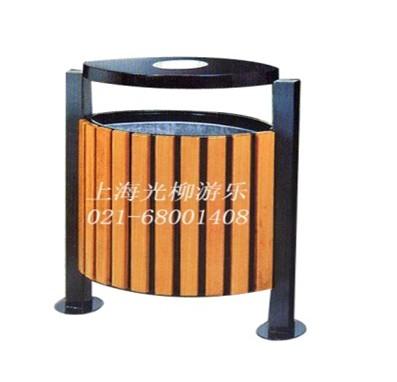 垃圾桶钢木结构4