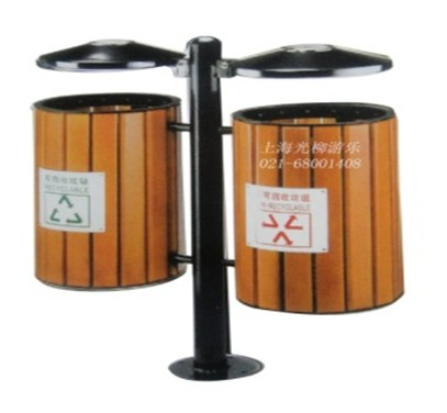 垃圾桶钢木结构5